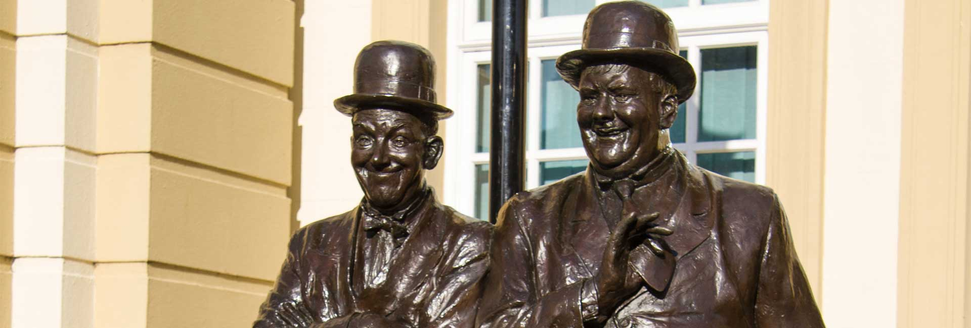 Laurel and Hardy Statue